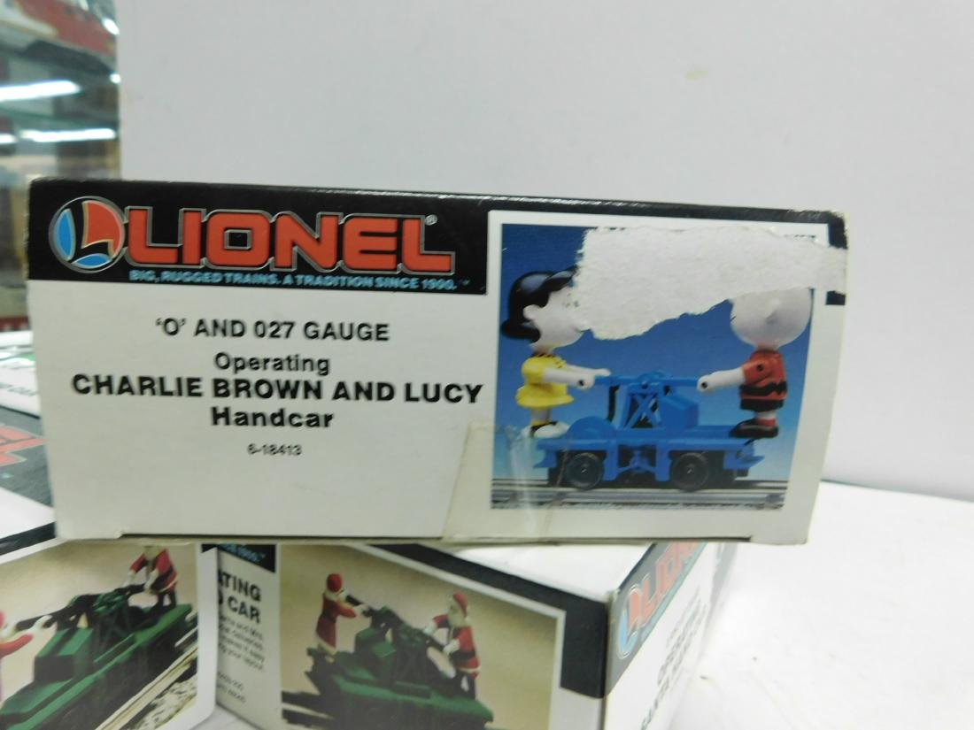 5 Lionel Operating Handcars Like New in Boxes - 7