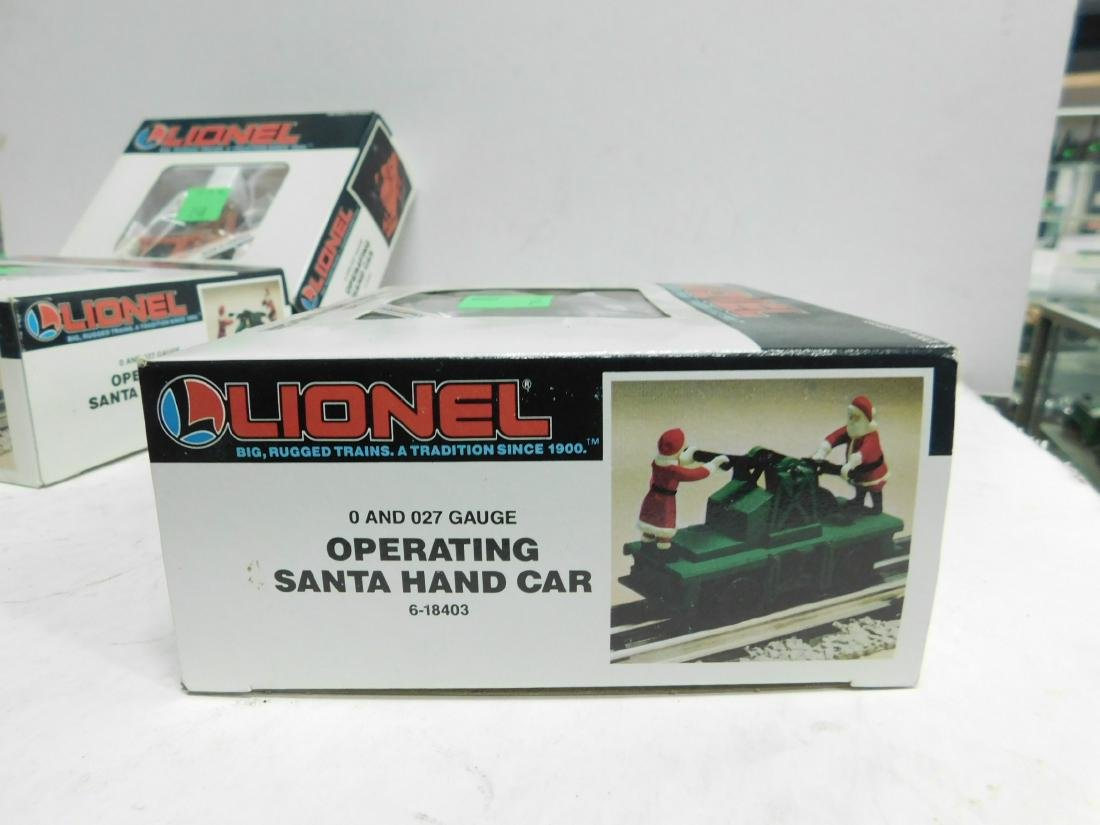 5 Lionel Operating Handcars Like New in Boxes - 8