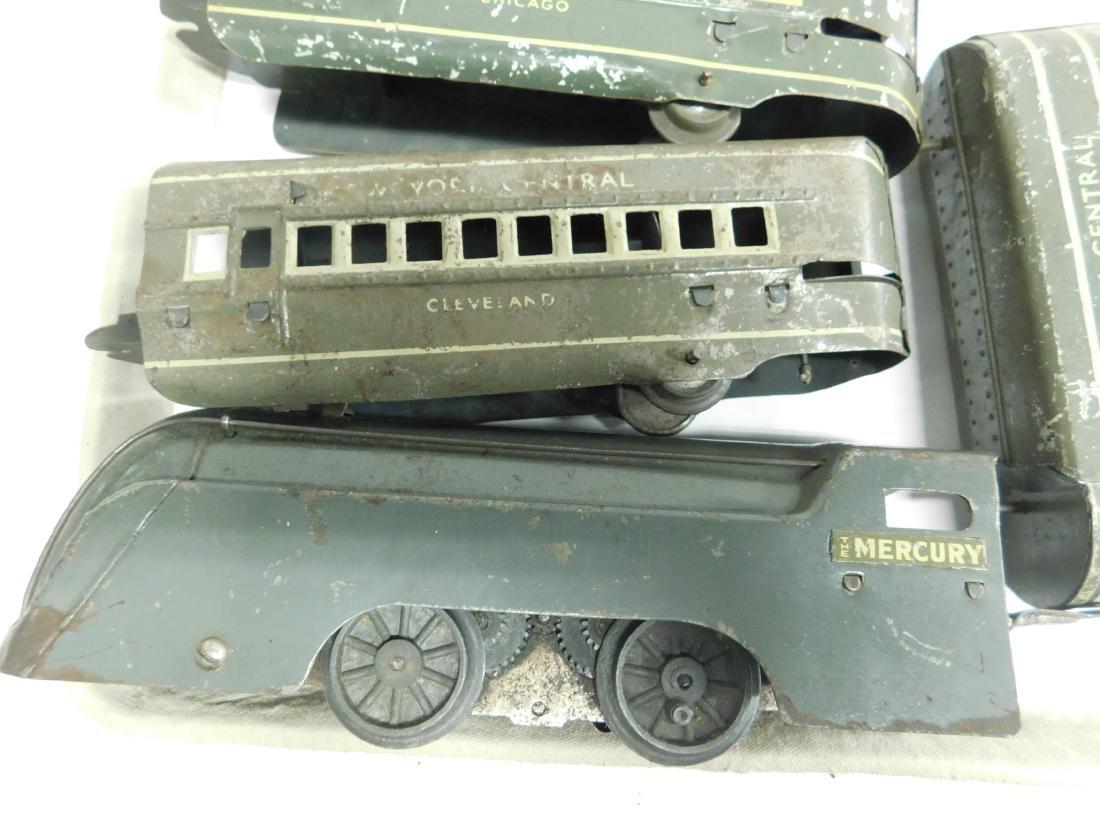 Marx Prewar 4 Piece Tin Train Set - 2