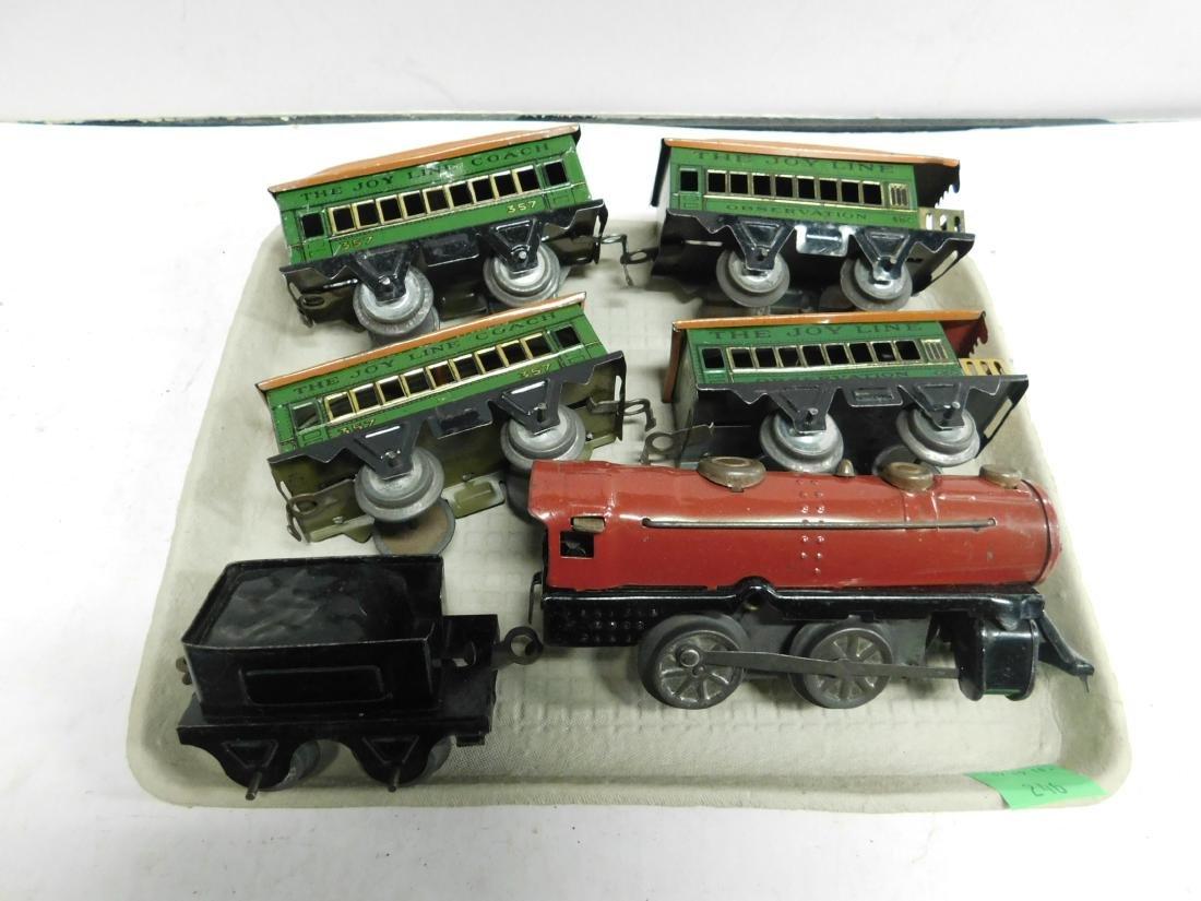 Vintage Joy Line Locomotive & Train Cars