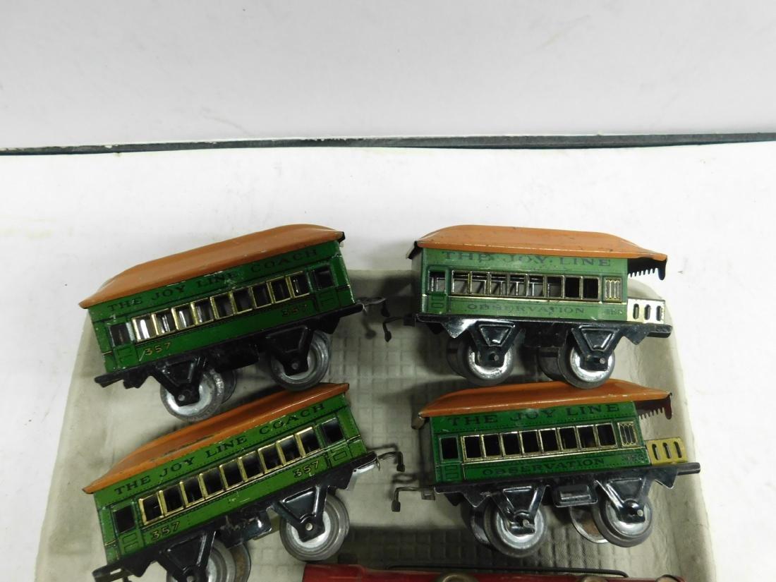 Vintage Joy Line Locomotive & Train Cars - 2
