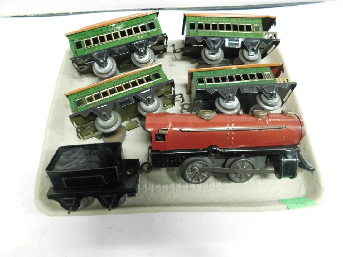 Vintage Joy Line Locomotive & Train Cars - 3