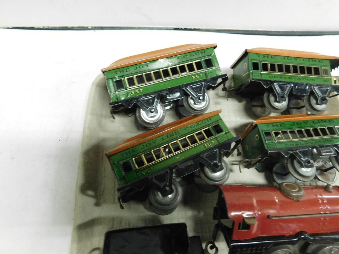 Vintage Joy Line Locomotive & Train Cars - 4