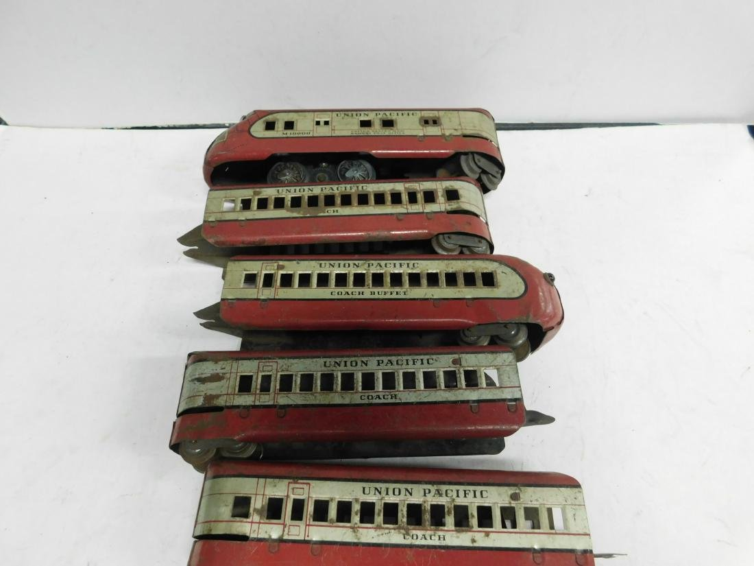 Marx Prewar 5 Pc Tin Train Set