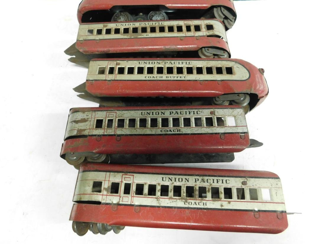 Marx Prewar 5 Pc Tin Train Set - 2