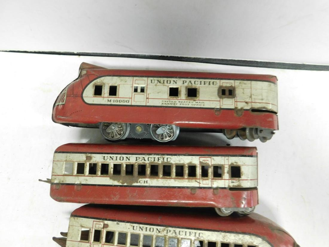 Marx Prewar 5 Pc Tin Train Set - 4