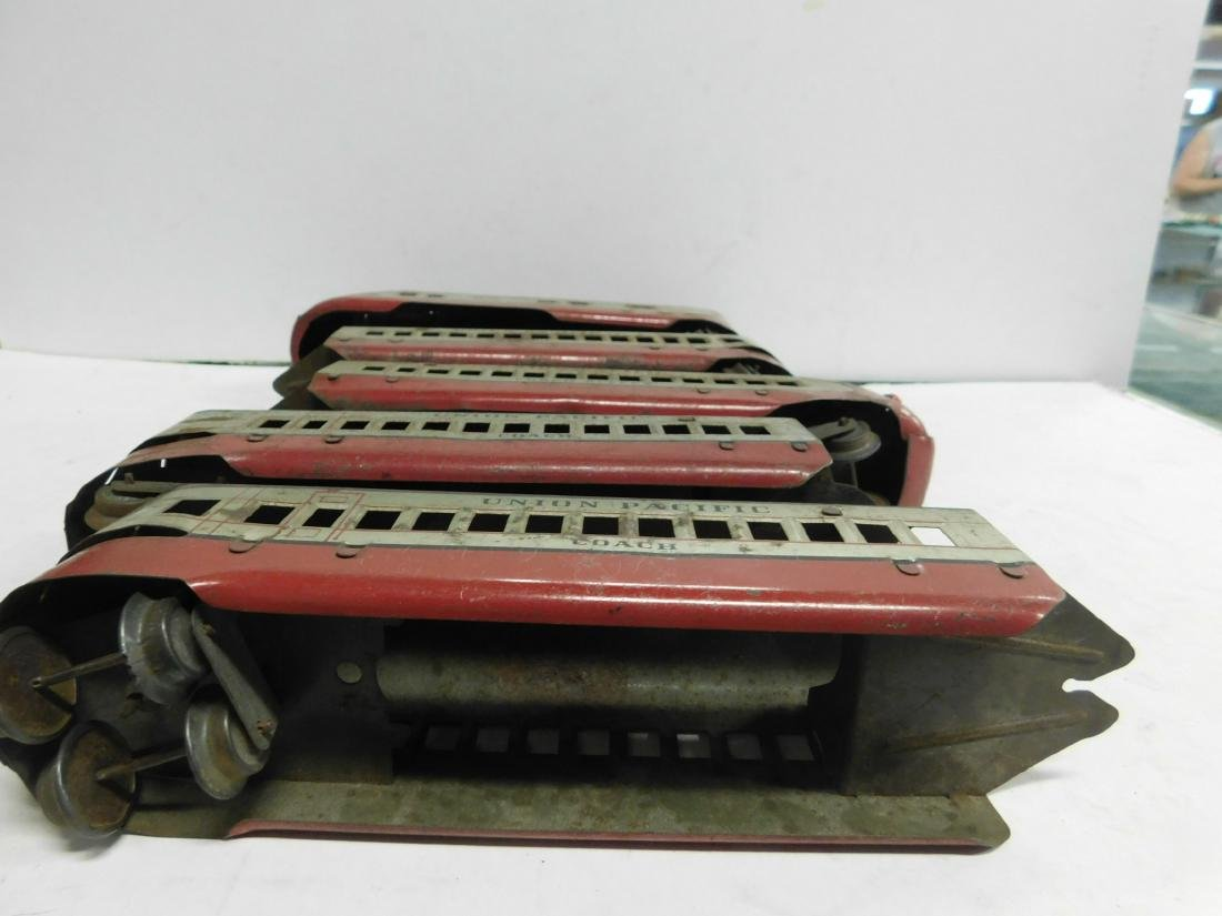 Marx Prewar 5 Pc Tin Train Set - 6