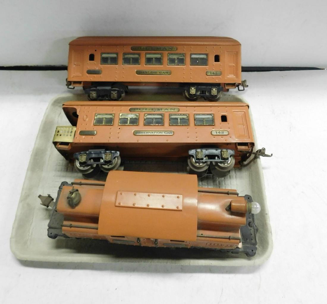Ive's Prewar Tin Engine & Train Cars
