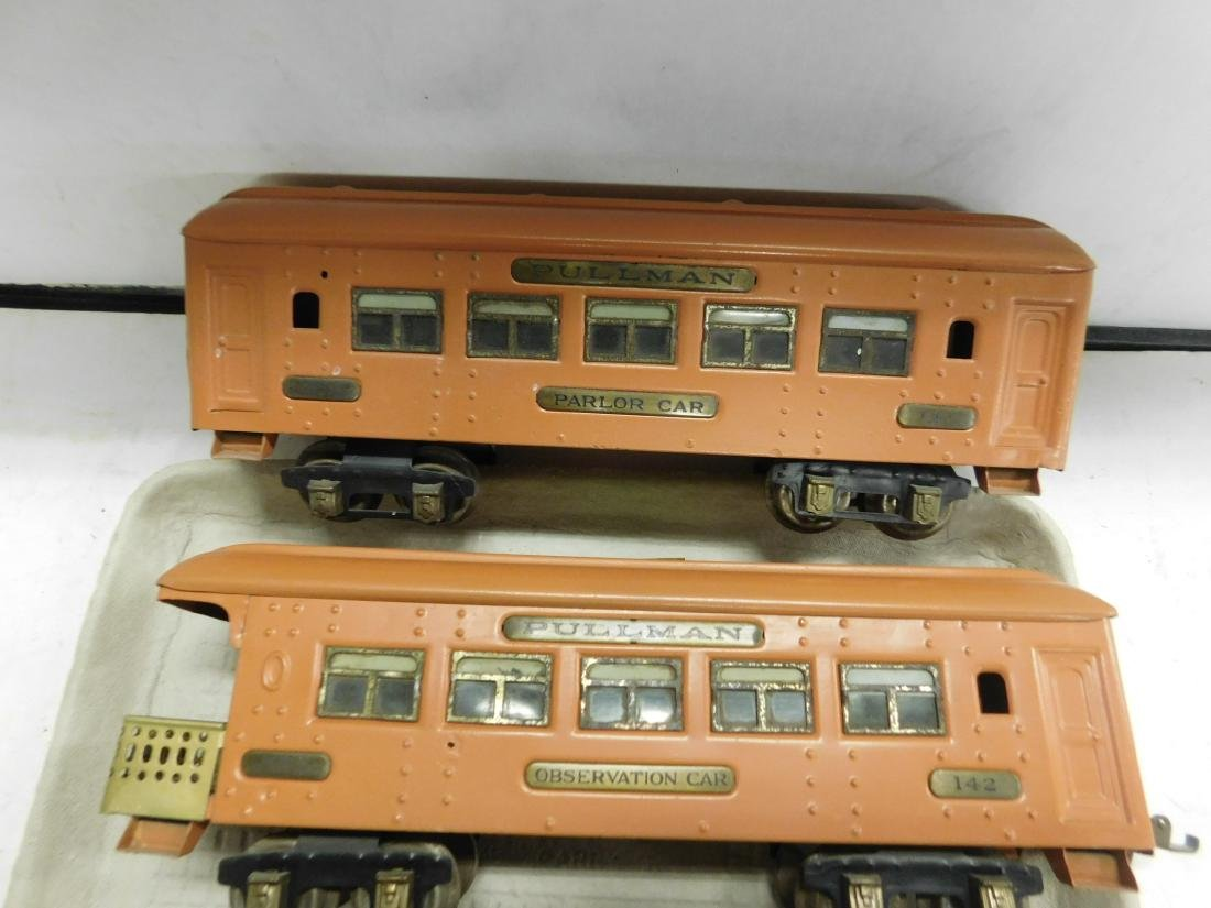 Ive's Prewar Tin Engine & Train Cars - 4