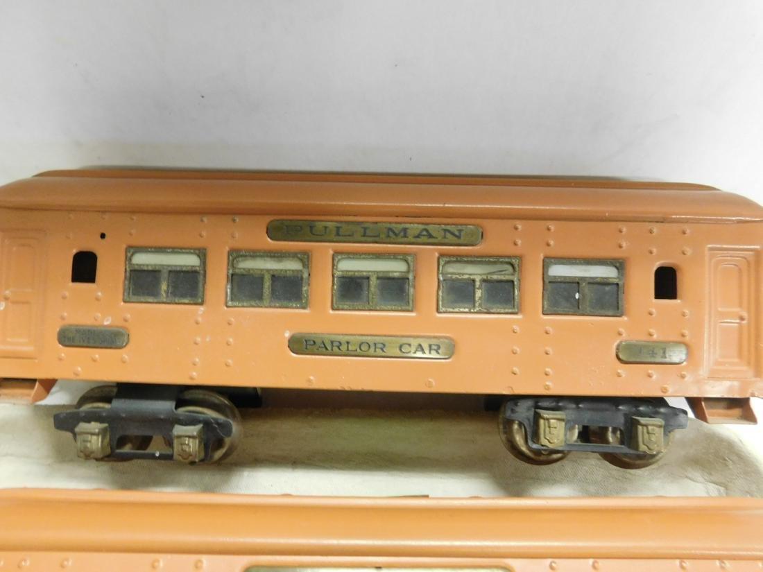 Ive's Prewar Tin Engine & Train Cars - 5