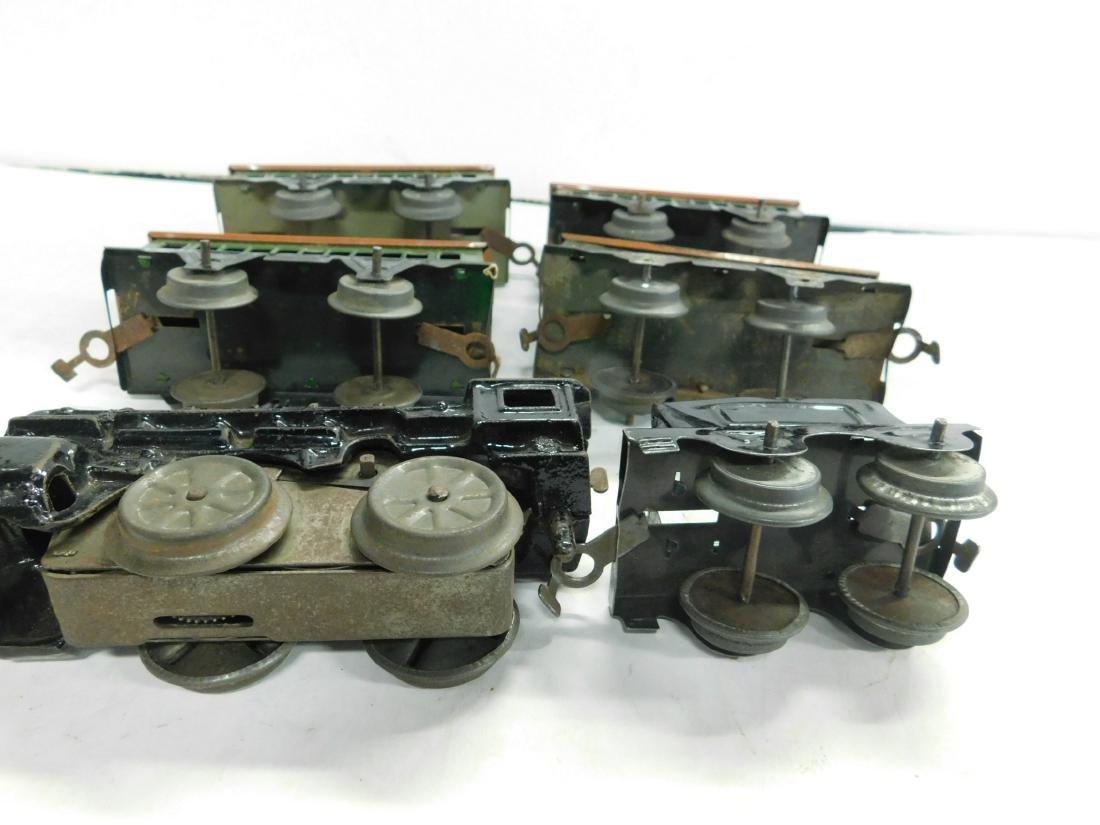 Vintage Cast Iron Wind up Engine & Cars - 5