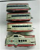 Vintage Marx 4 Piece Train Set