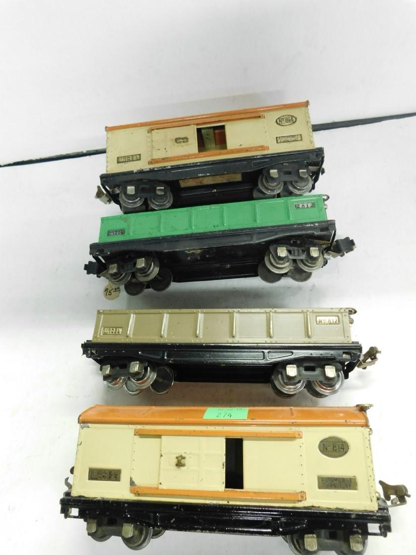 4 Lionel O Gauge Train Cars