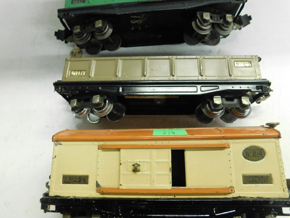 4 Lionel O Gauge Train Cars - 2
