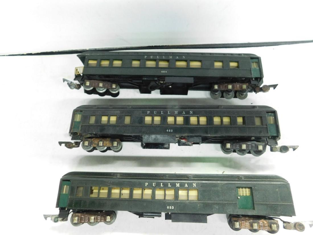 Vintage Set 3 A.C. Gilbert Train Cars