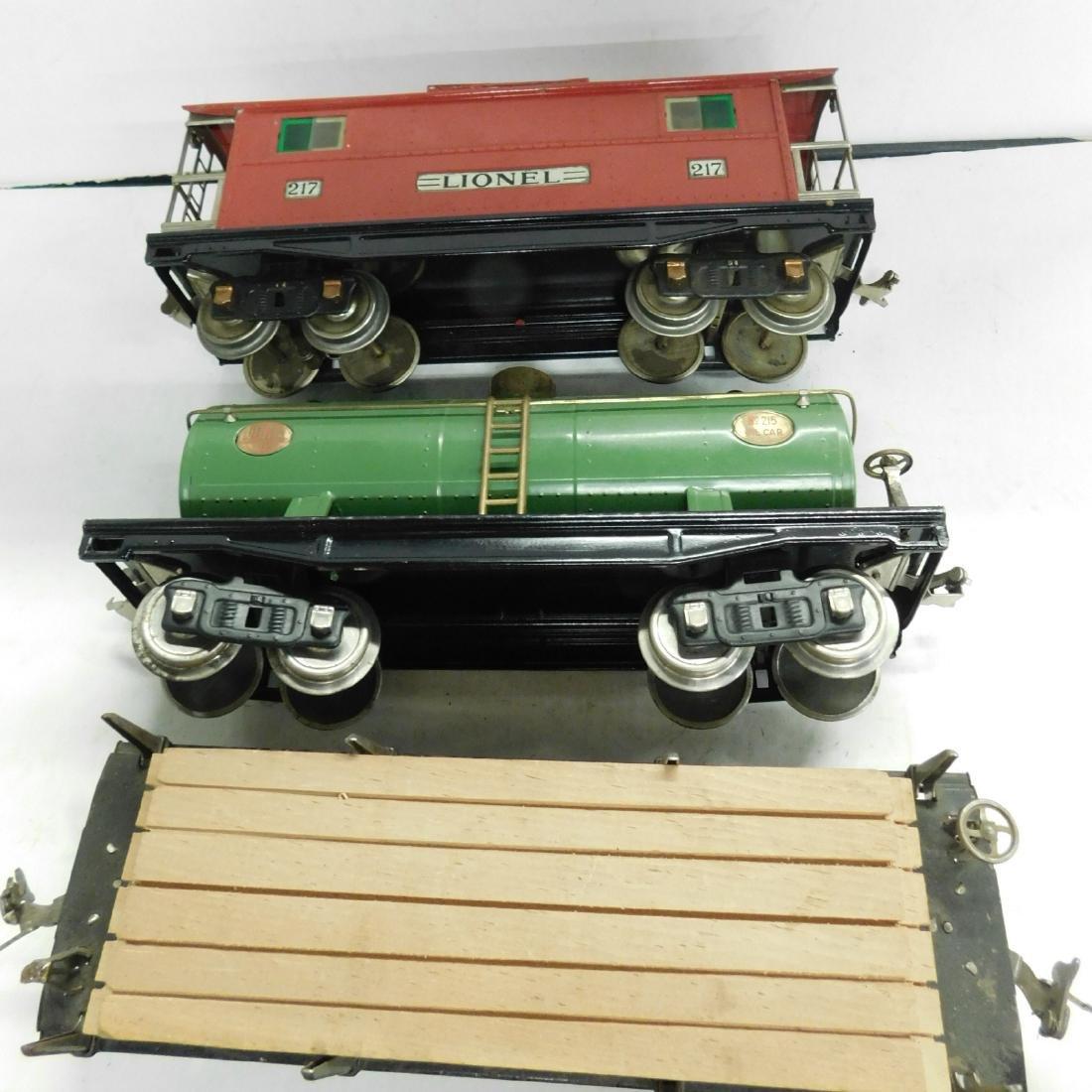 3 Lionel Lines Standard Gauge Train Cars