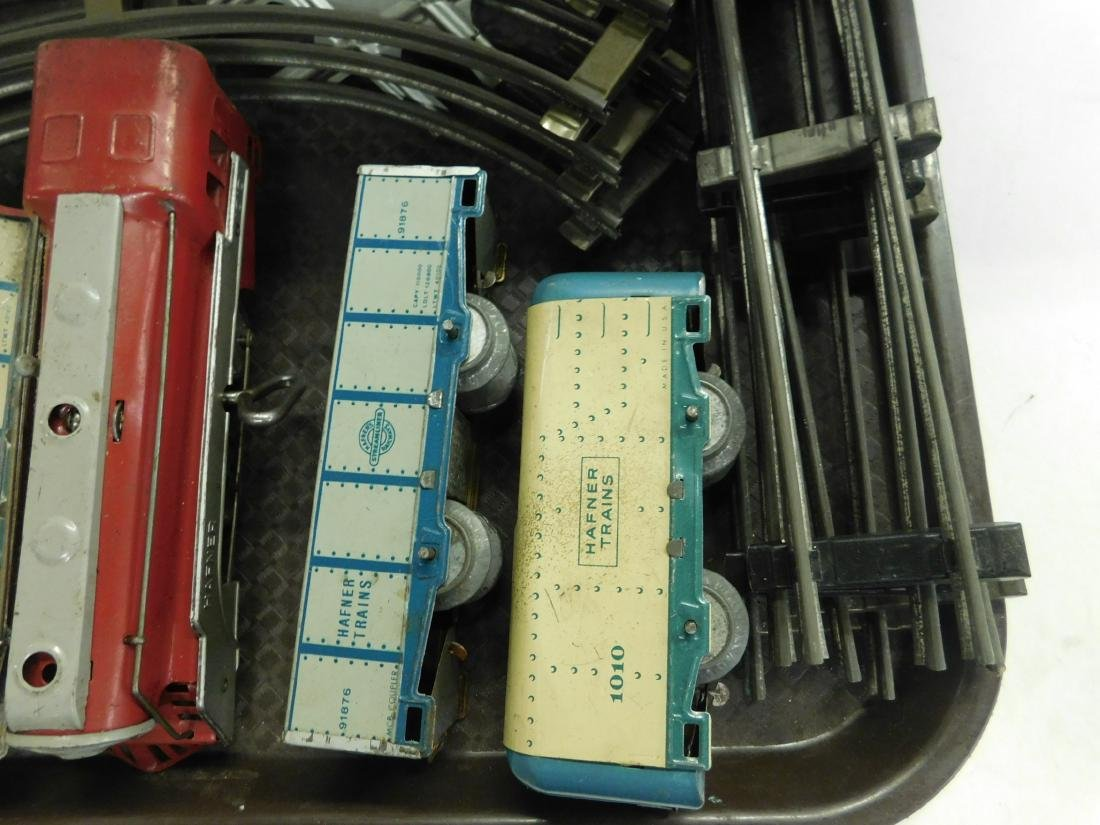 Vintage Hafner Tin Wind Up Train Set w/Track - 4