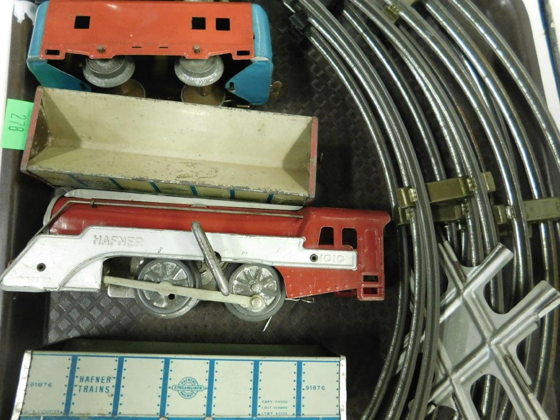 Vintage Hafner Tin Wind Up Train Set w/Track - 5