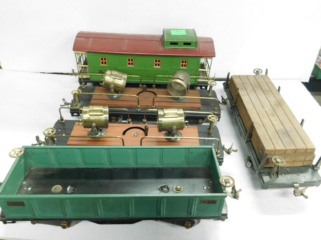 5 Lionel Prewar Standard Gauge Train Cars