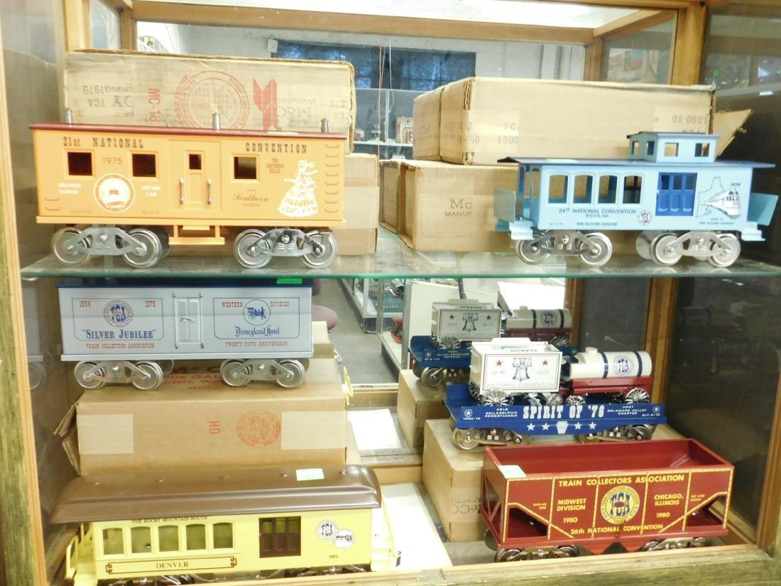 6 McCoy's Wide Gauge TCA Train Cars