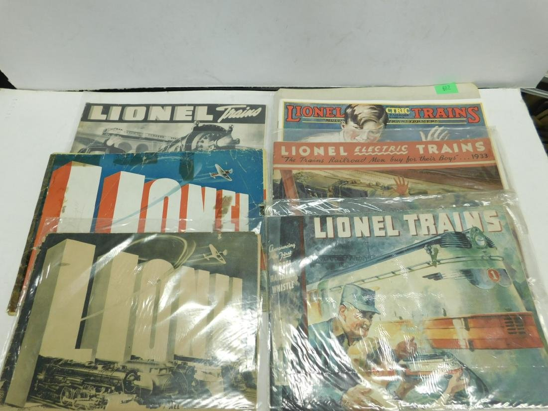 (8) 1920s & 30s Lionel Train Catalogs