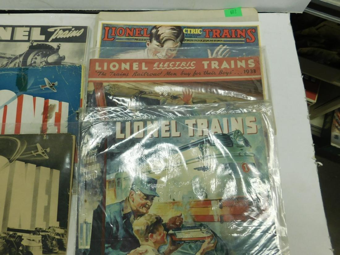 (8) 1920s & 30s Lionel Train Catalogs - 3