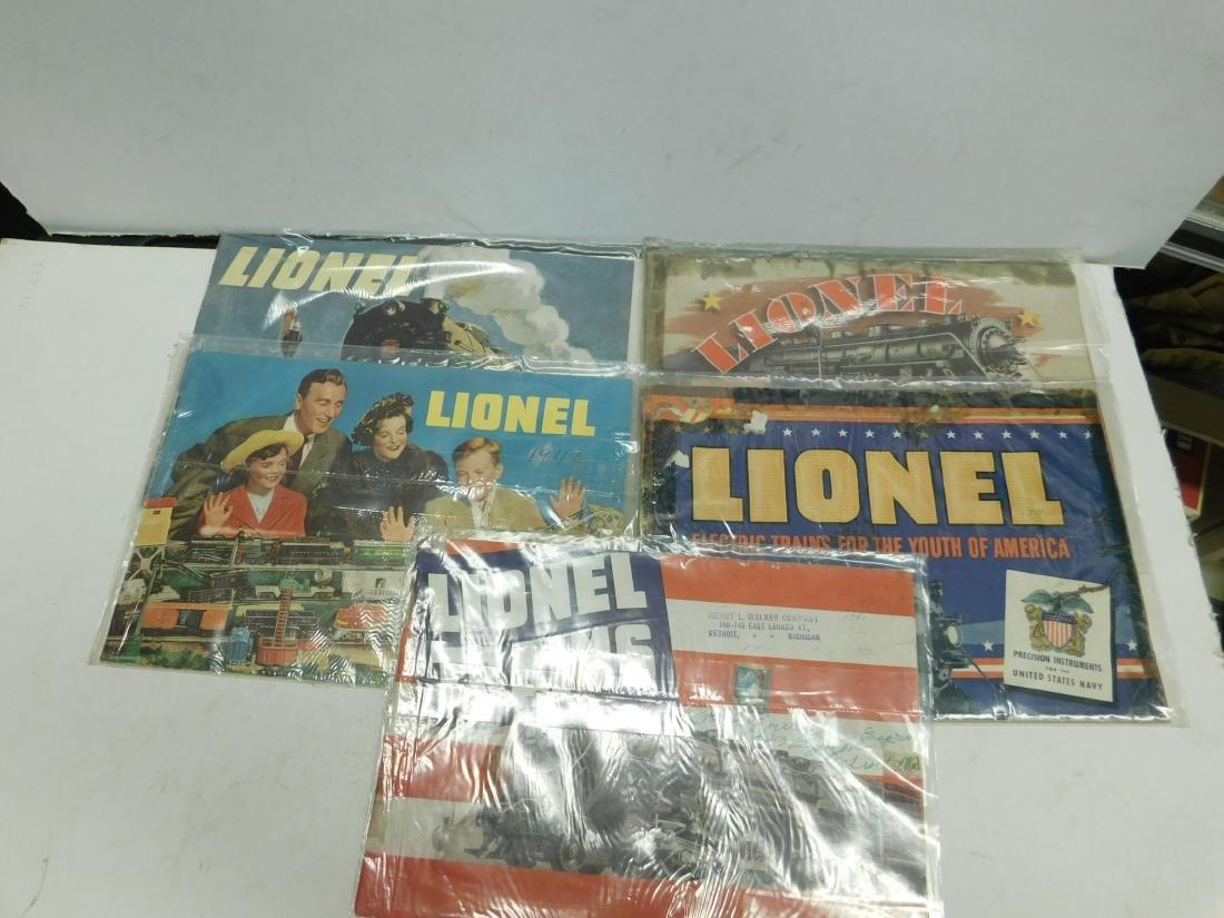 (7) 1940s Lionel Train Catalogs