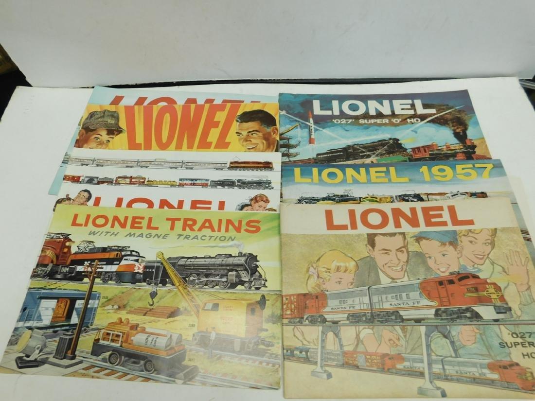 (7) 1950s-60s Lionel Consumer Catalogs