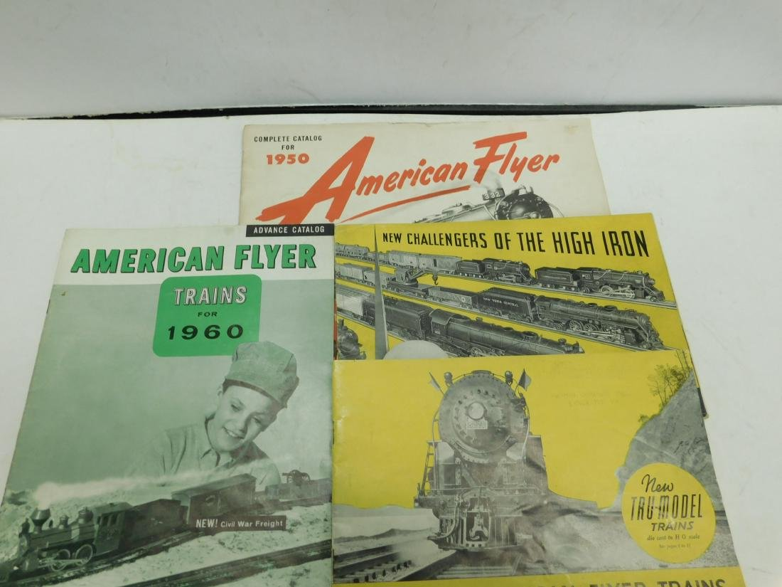 4 American Flyer Train Merchandise Catalogs