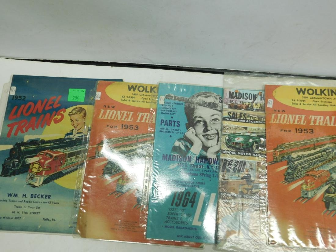 Five 1950s-60s Store Lionel & Other Catalogs