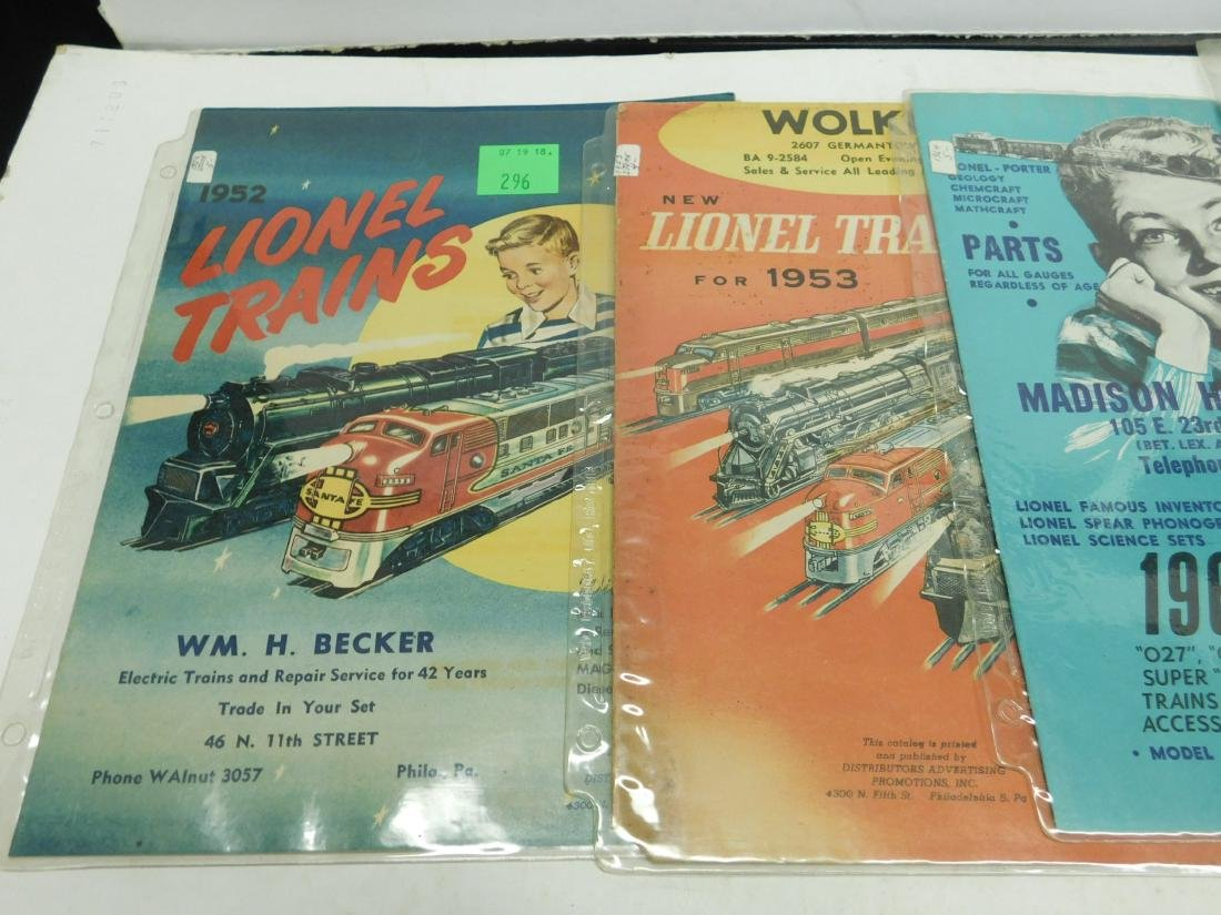 Five 1950s-60s Store Lionel & Other Catalogs - 2