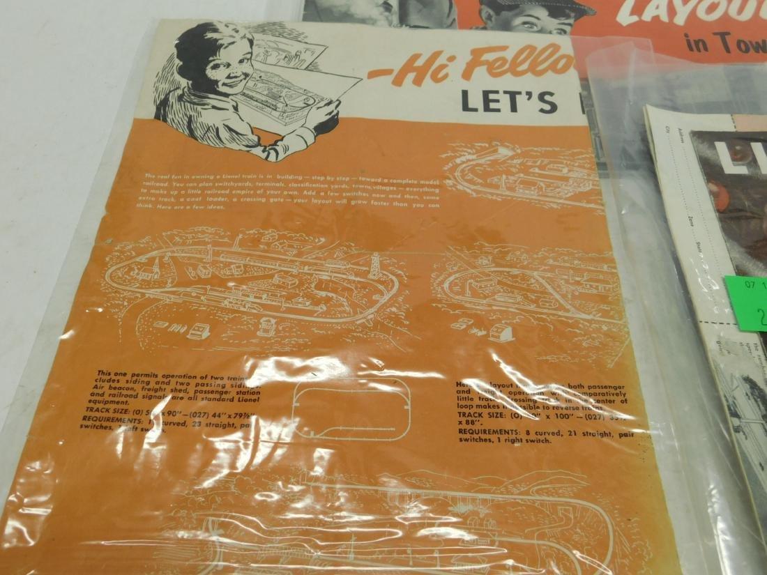 4 Vintage Lionel Accessories&Planning Books &Sheet - 3