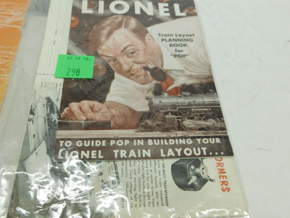 4 Vintage Lionel Accessories&Planning Books &Sheet - 4