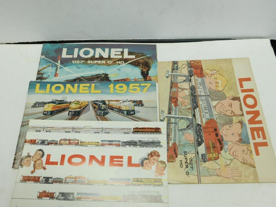 (6)1950s-60s Lionel Consumer Train Catalogs