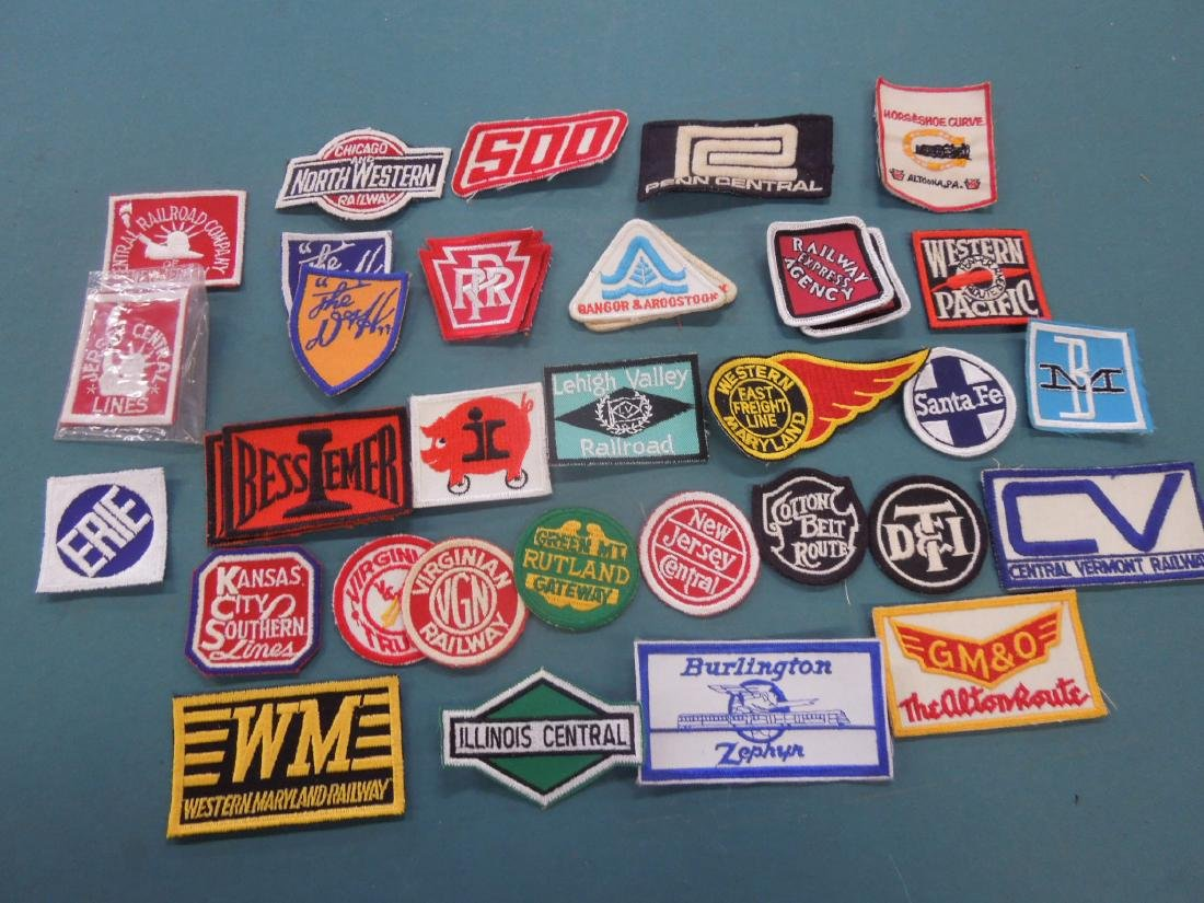 Lot Assorted Railroad Patches