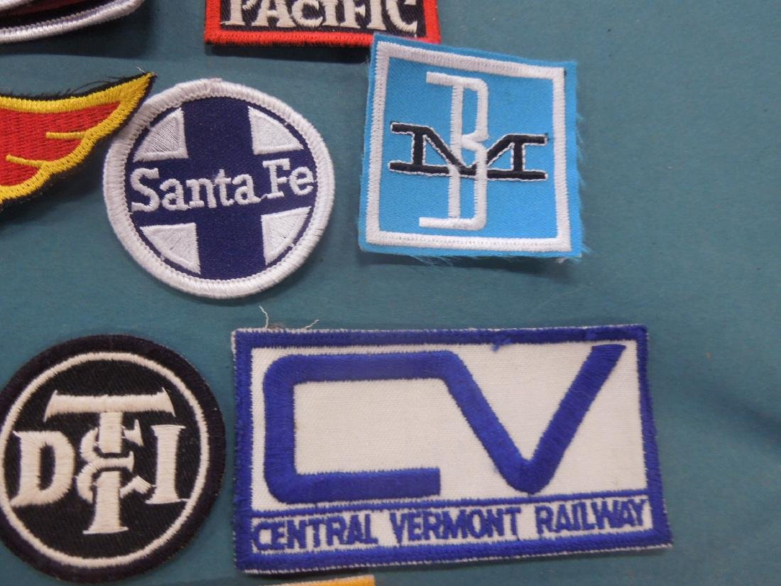 Lot Assorted Railroad Patches - 5