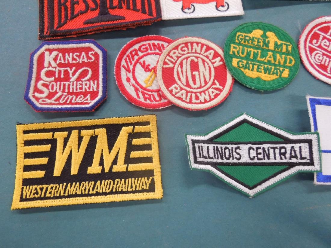 Lot Assorted Railroad Patches - 9