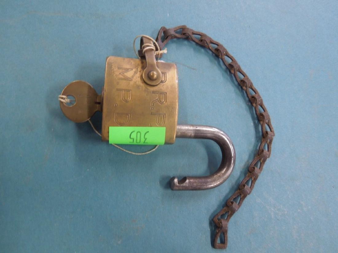 Pennsylvania Railroad Switch Lock with Key
