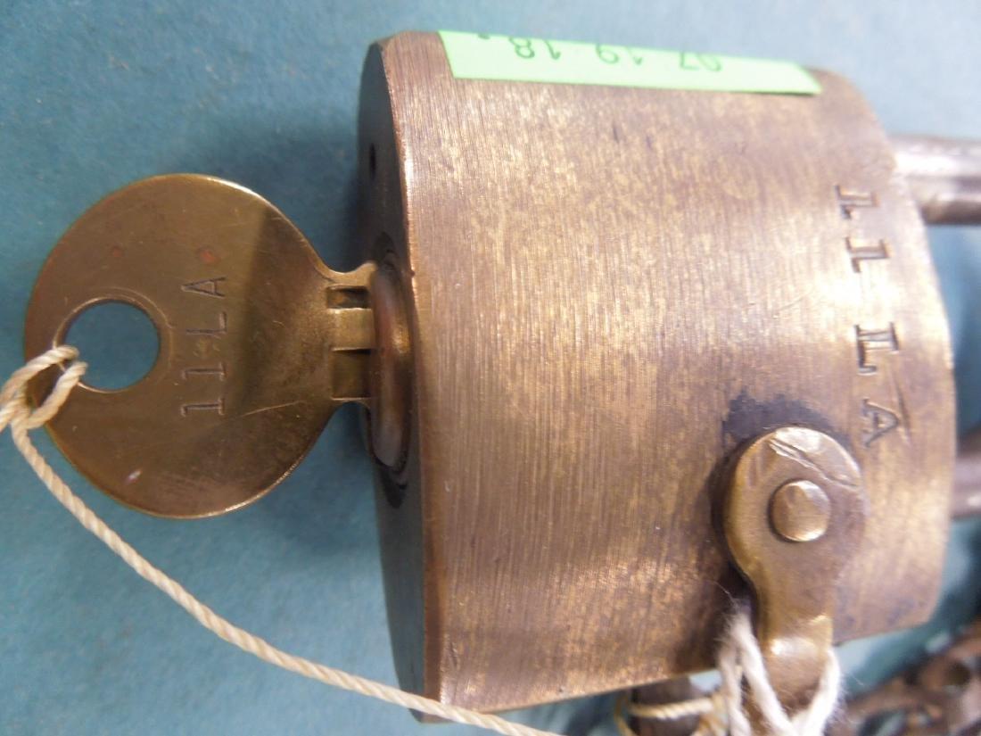 Pennsylvania Railroad Switch Lock with Key - 3