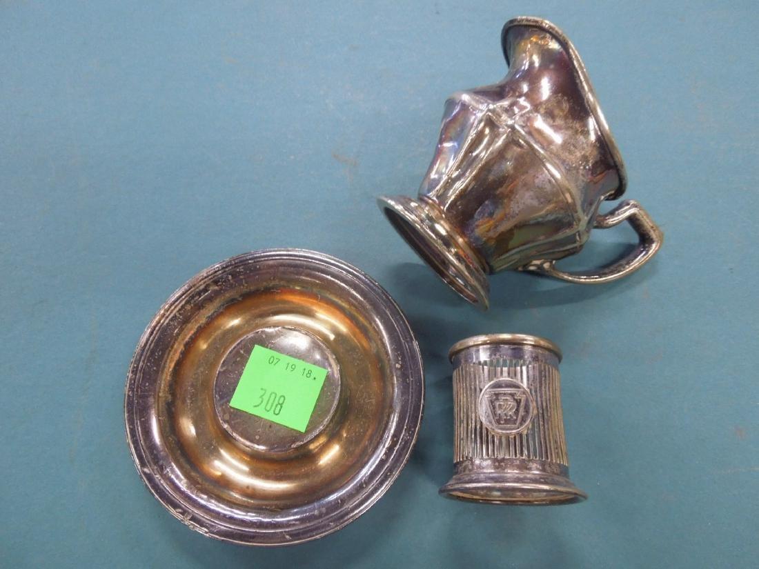 3 Pennsylvania Railroad Silver Plate Pieces