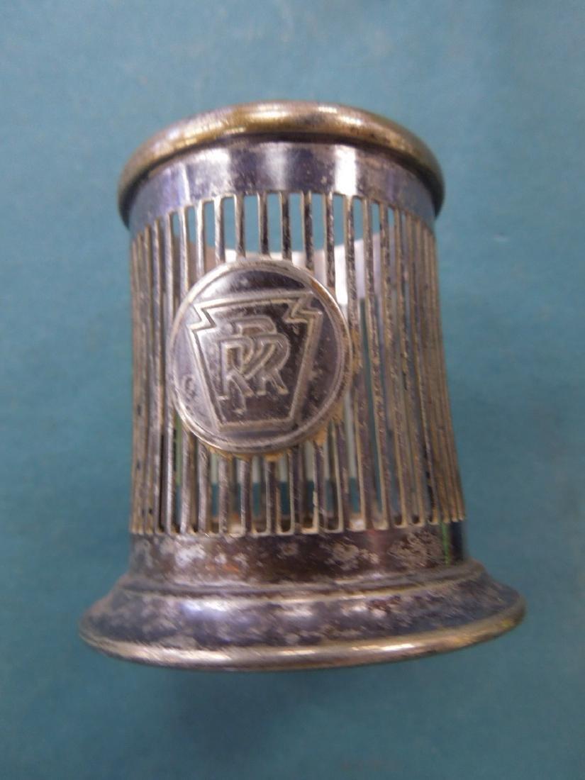 3 Pennsylvania Railroad Silver Plate Pieces - 4