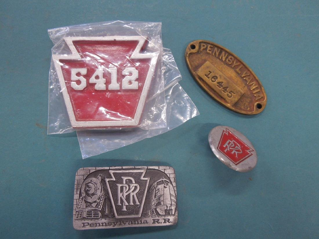 Assorted P.R.R. Metal Plaques & Other