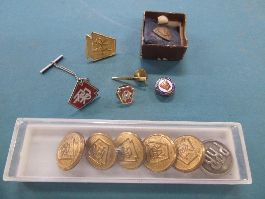 Assorted P.R.R. Pins & Buttons