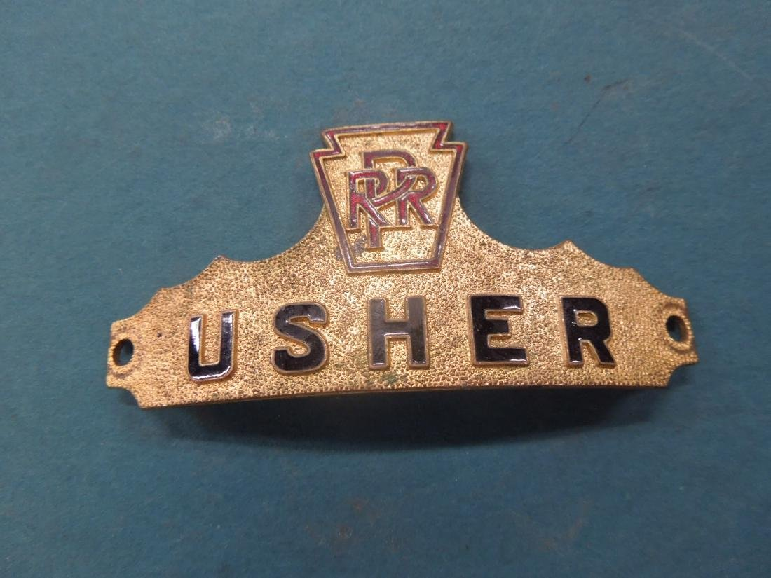 Pennsylvania Railroad Usher Cap Badge