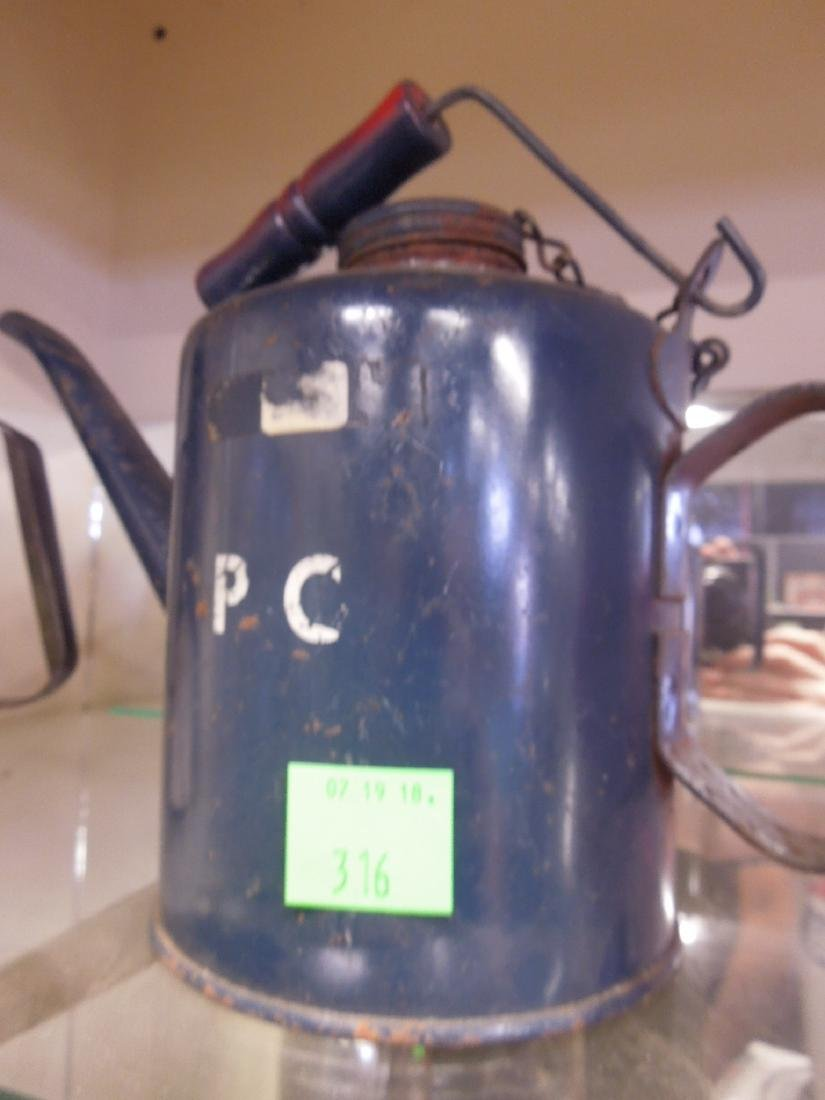 Vintage Metal Railroad Oil Can & Torch - 2