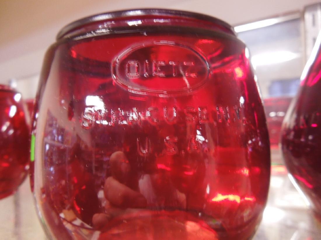 5 Red Lantern Globes - 2