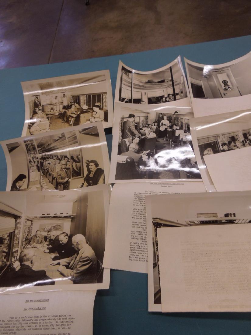 Set of 8 PRR Inside Train Car Photos