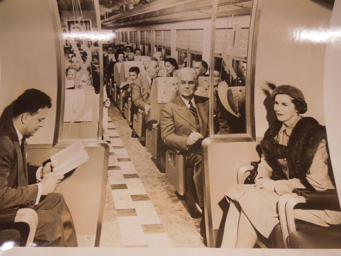 Set of 8 PRR Inside Train Car Photos - 4