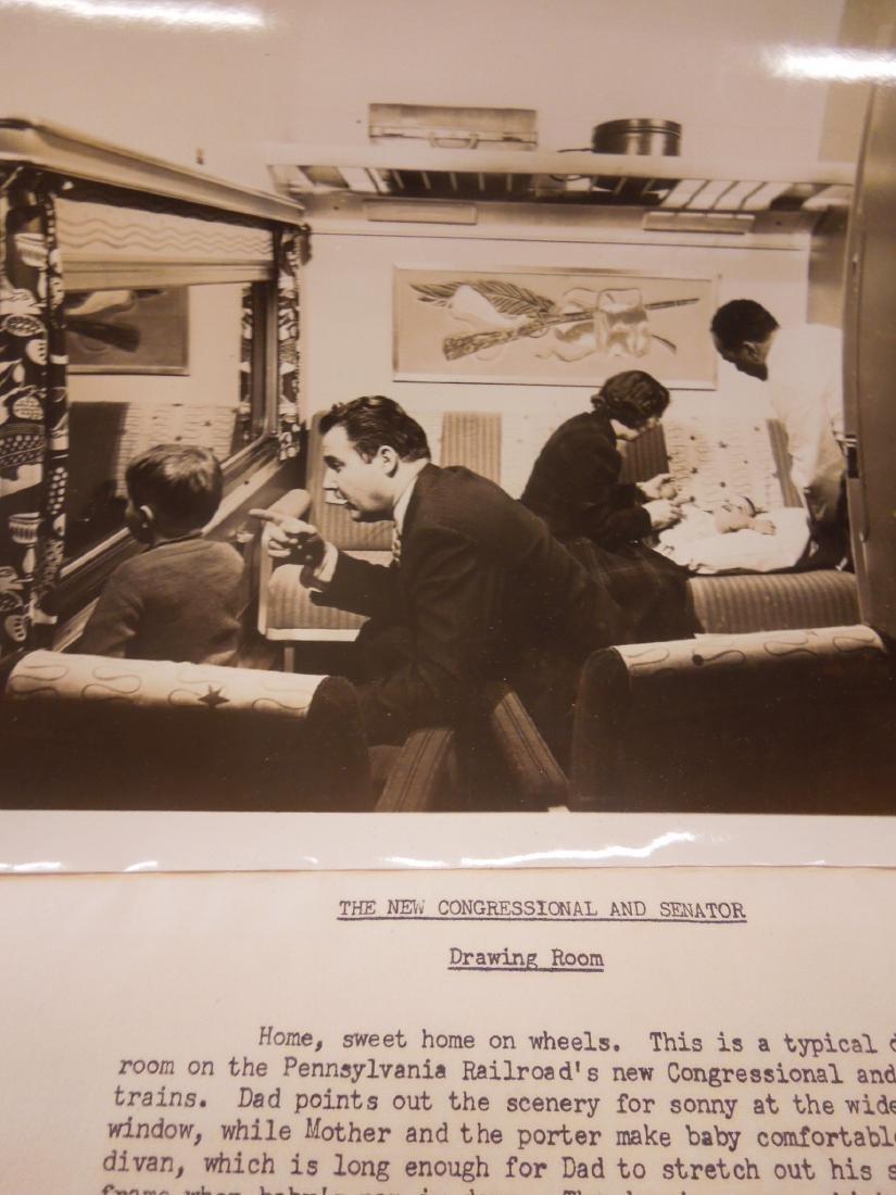 Set of 8 PRR Inside Train Car Photos - 6