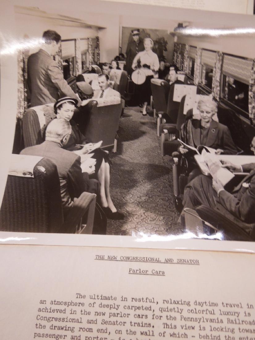 Set of 8 PRR Inside Train Car Photos - 7